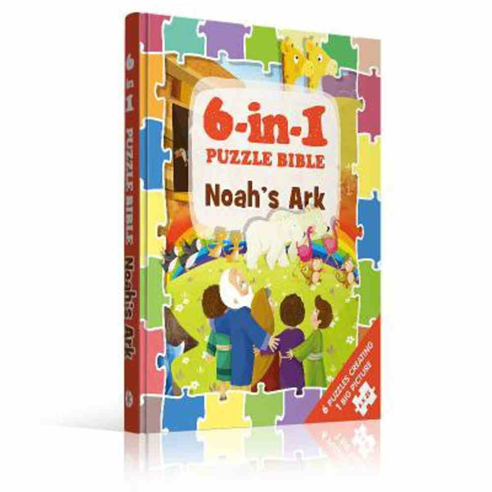 6-In-1 Puzzle Book Noah's Ark: 6 Puzzles Creating 1 Big Picture Padded Board Book