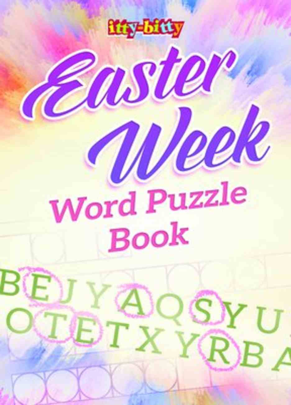 Easter Week Word Puzzle Book (NIV) (Itty Bitty Bible Series) Paperback