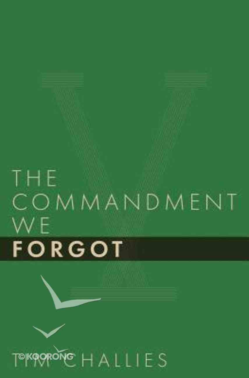 The Commandment We Forgot Paperback