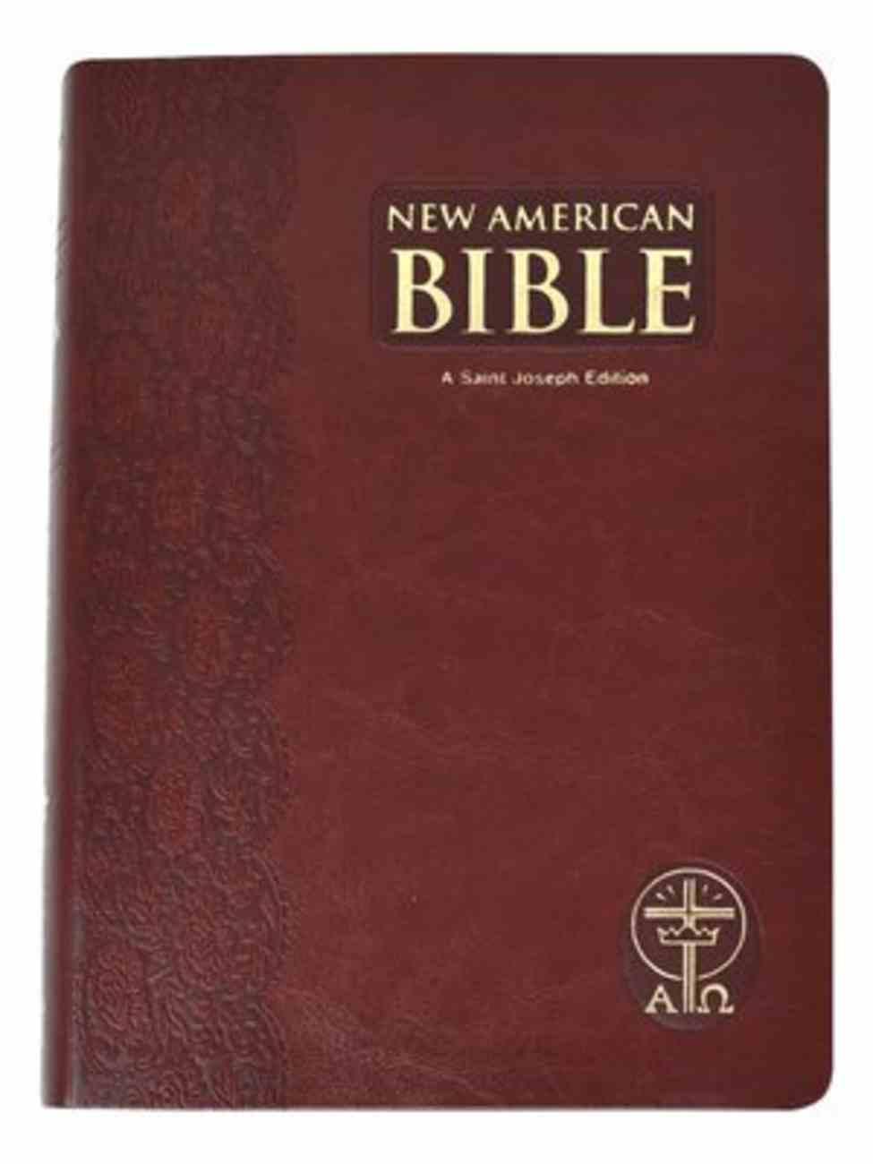 Nab St. Joseph Giant Print Bible Brown Imitation Leather