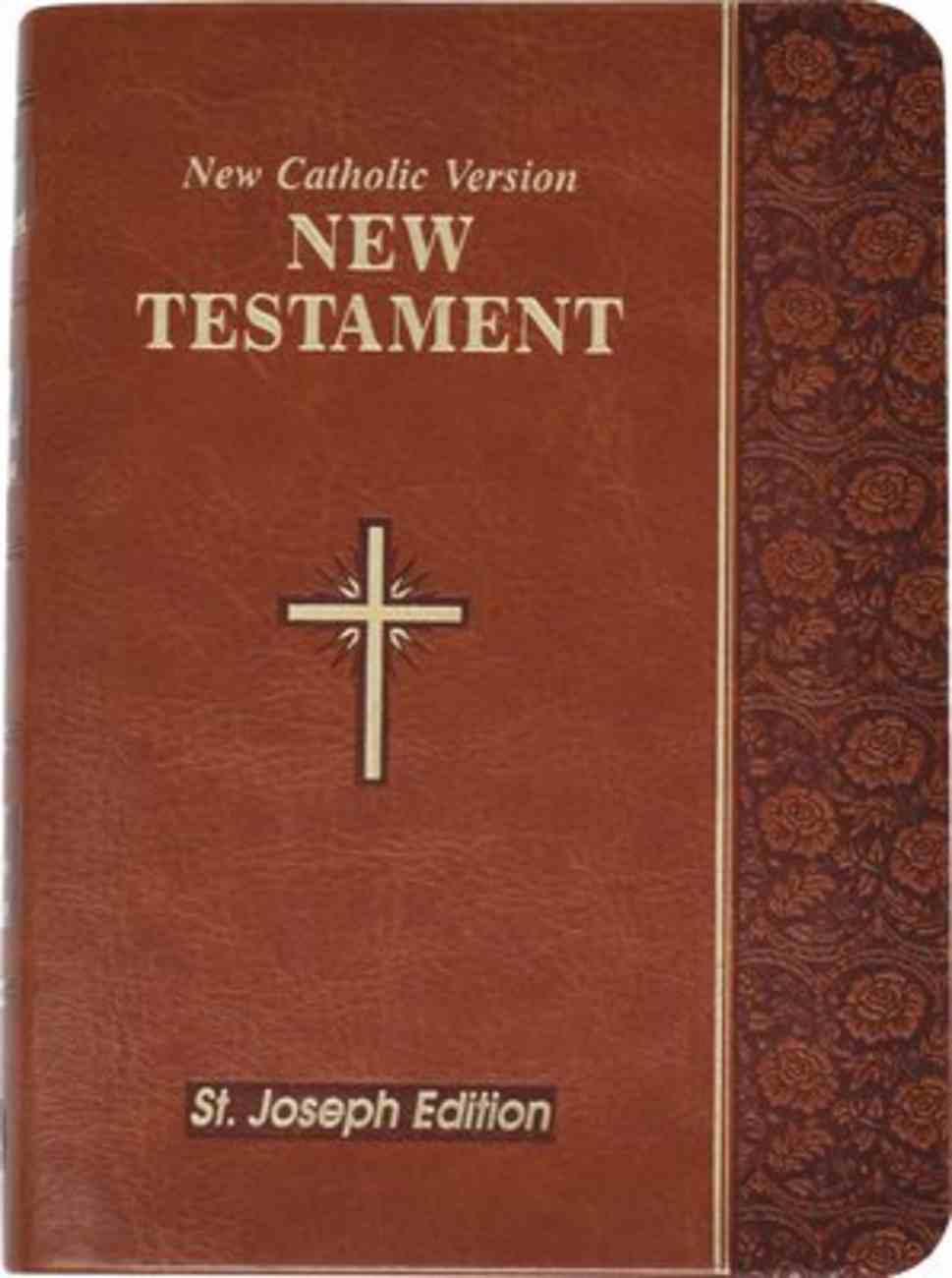 New Catholic Version St. Joseph New Testament Vest Pocket Brown Imitation Leather