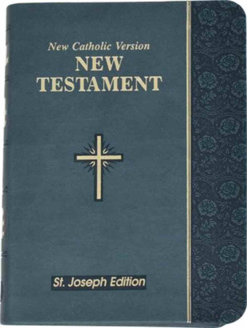 New Catholic Version St. Joseph New Testament Vest Pocket Slate Imitation Leather