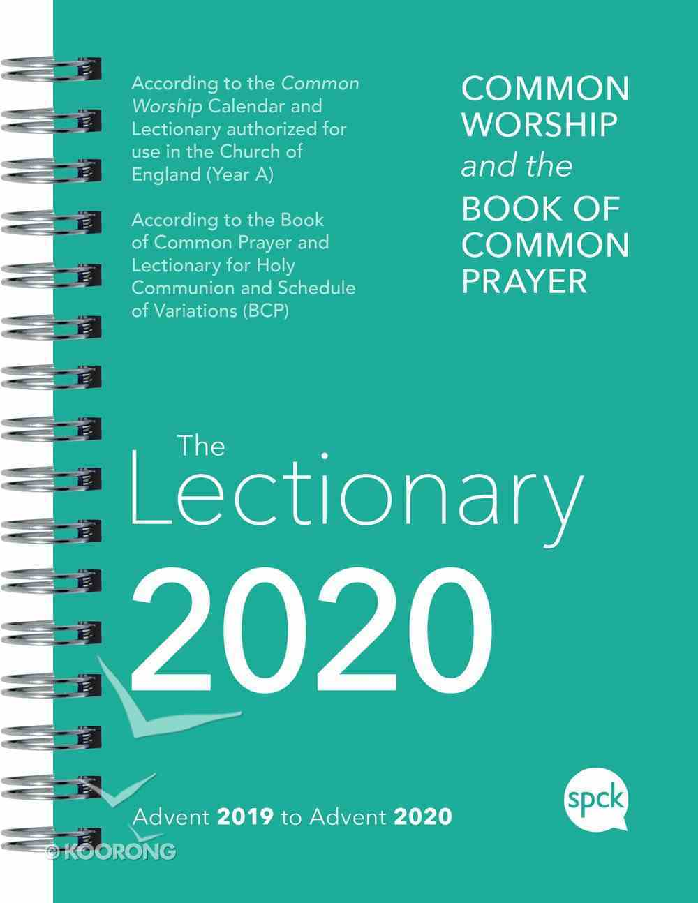 Common Worship Lectionary 2020 Spiral