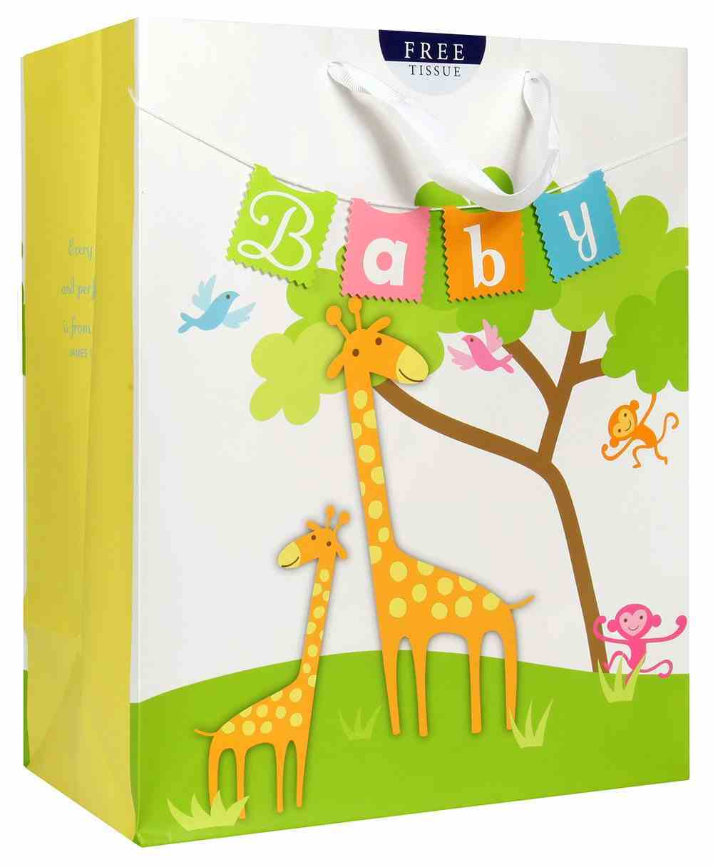 Gift Bag Large: Baby Giraffe (Incl Two Sheets Tissue Paper & Gift Tag) Stationery