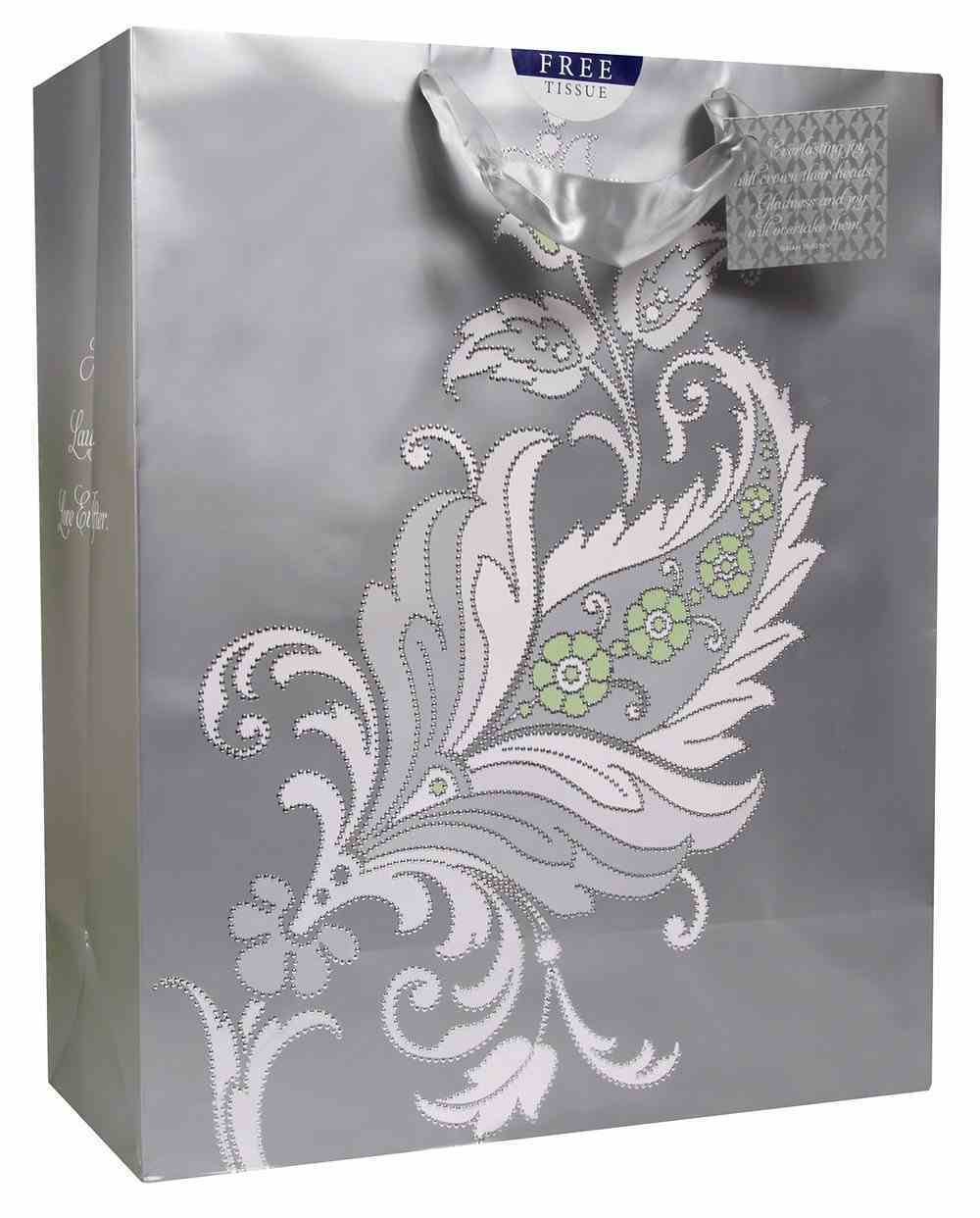 Gift Bag Xlarge: Wedding Everlasting Joy, Grey (Incl Two Sheets Tissue Paper & Gift Tag) Stationery