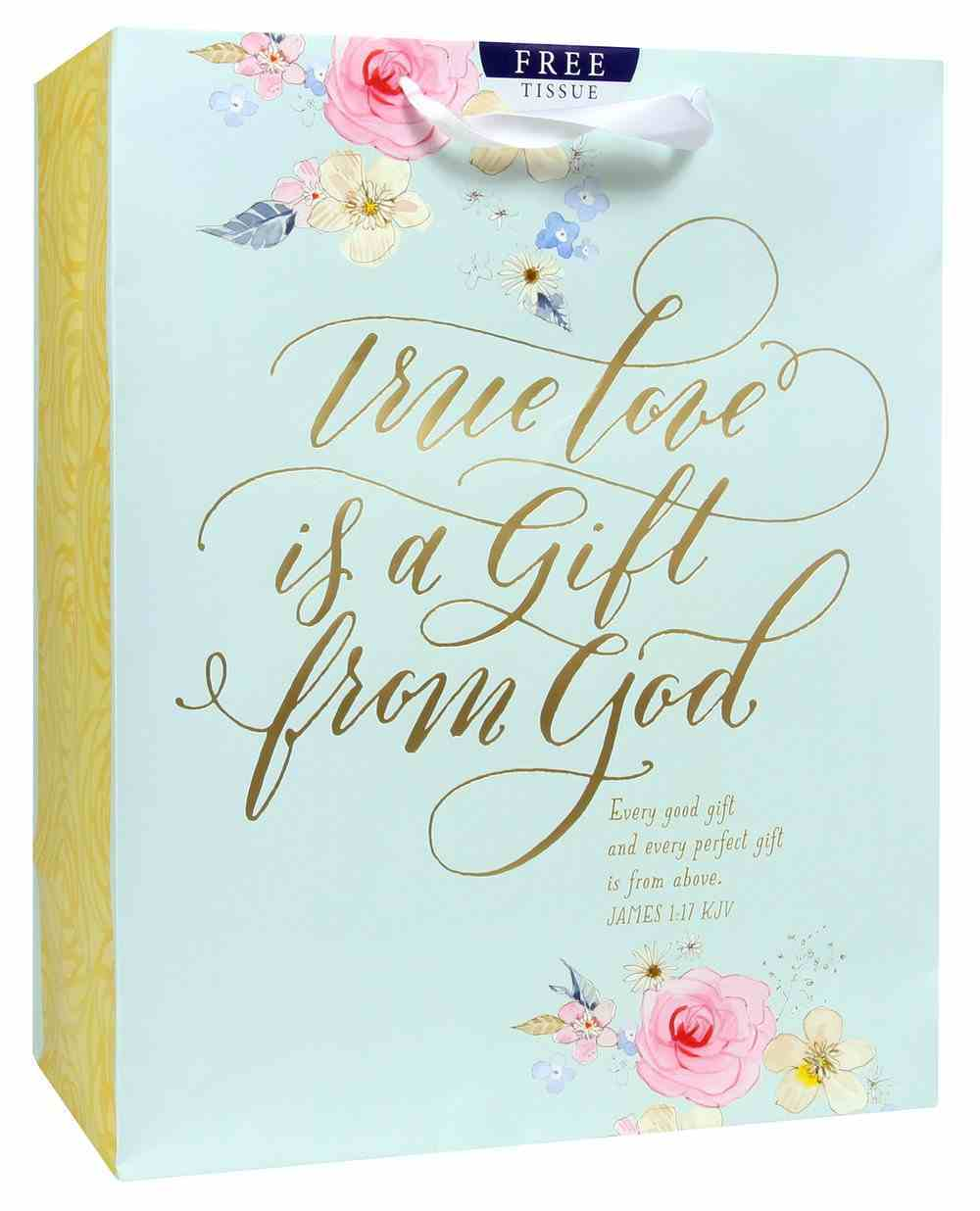 Gift Bag Large: True Love is a Gift (Incl Two Sheets Tissue Paper & Gift Tag) Stationery