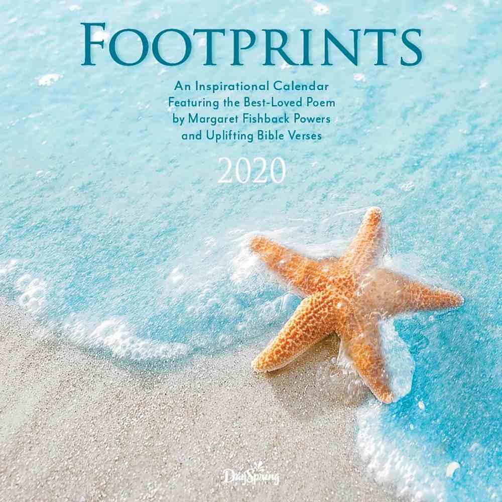 2020 Wall Calendar: Footprints Calendar