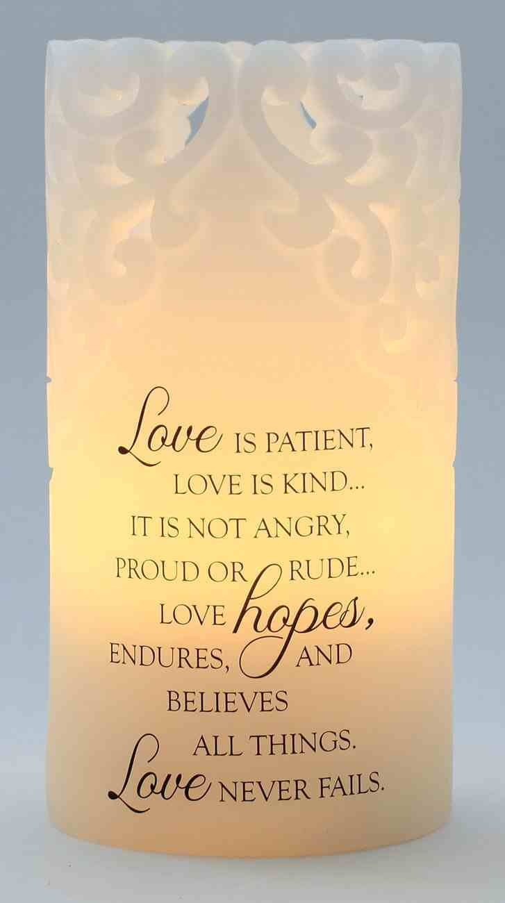 Candle: Sculpted- Love is Patient, Love is Kind... Homeware