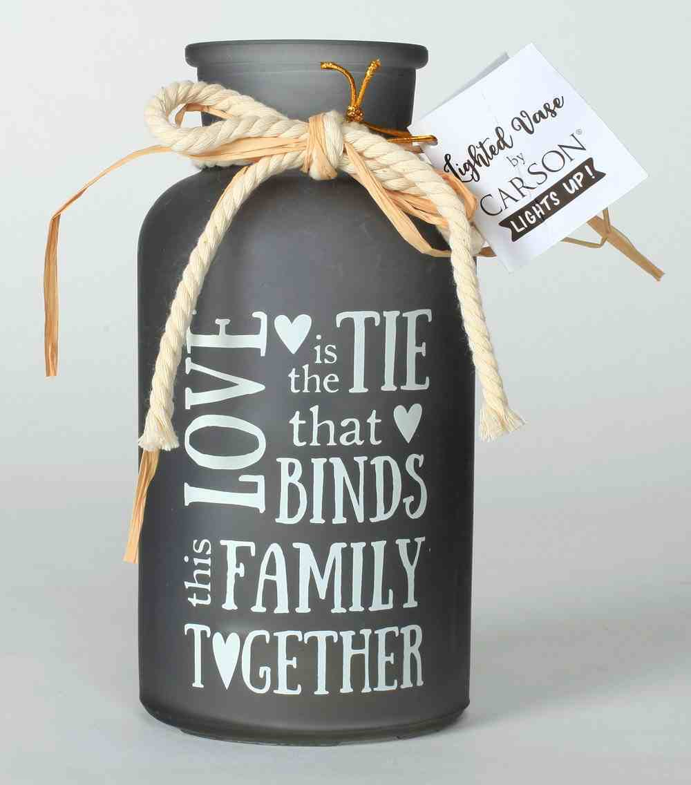 Lighted Vase: Family- Love is the Tie That Binds This Family Together Homeware