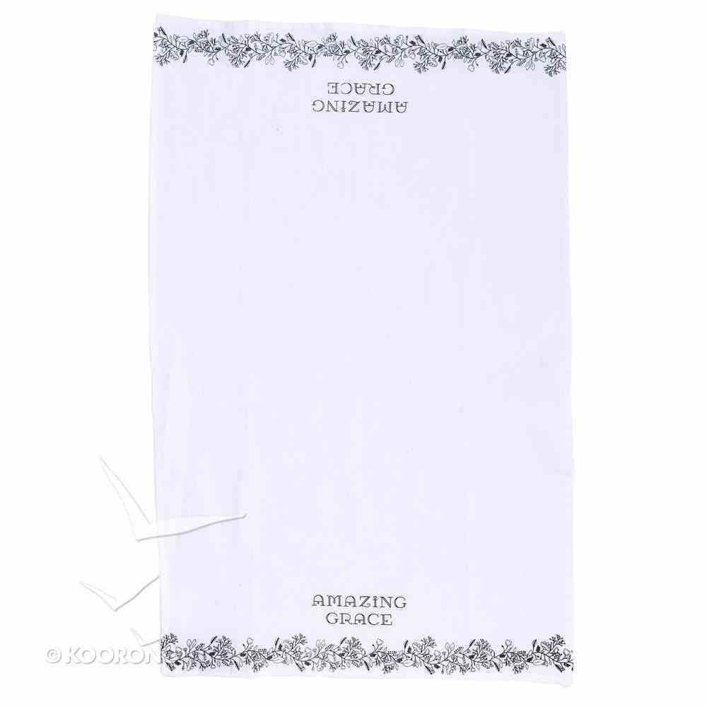 Tea Towel: Amazing Grace, White/Black Homeware