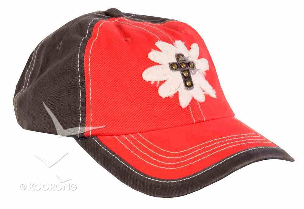 Cap: Daisy He Loves Me, Peach/Brown Soft Goods