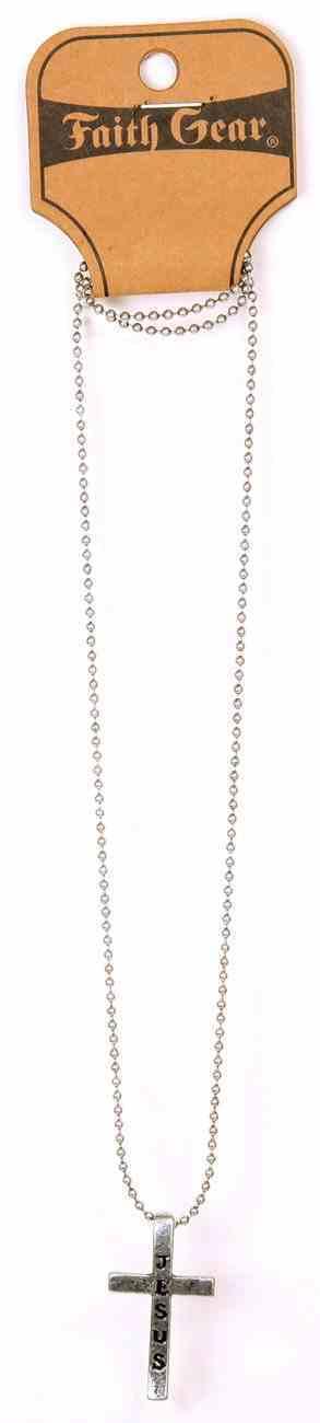 Men's Faith Gear Necklace: Jesus Cross Silver Jewellery