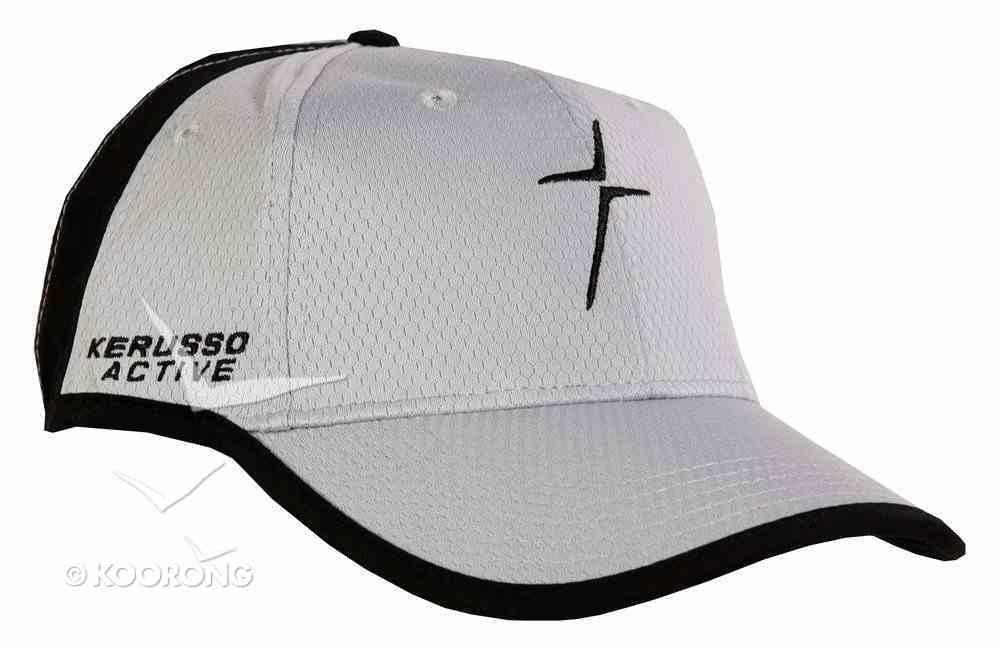 Men's Activewear Cap: Faith in Motion Active Cross, Grey/Black Soft Goods