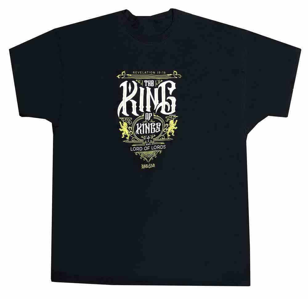 T-Shirt: The King of Kings Large, Black/Metallic Ink (Revelation 19:16) Soft Goods