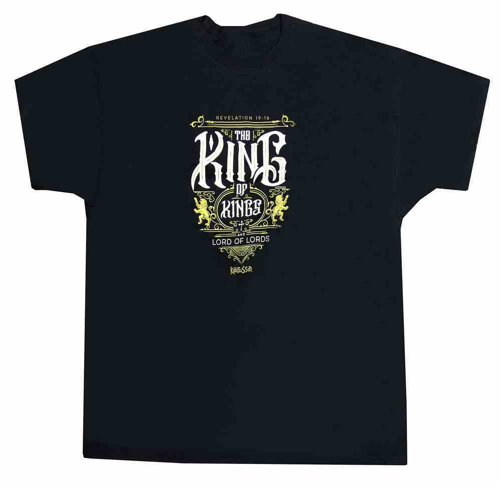 T-Shirt: The King of Kings Xlarge, Black/Metallic Ink (Revelation 19:16) Soft Goods