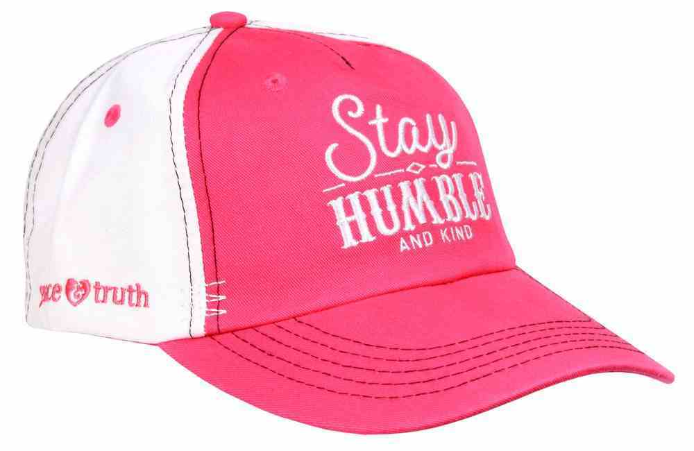 Grace & Truth Women's Cap: Stay Humble and Kind, Hot Pink/White Soft Goods