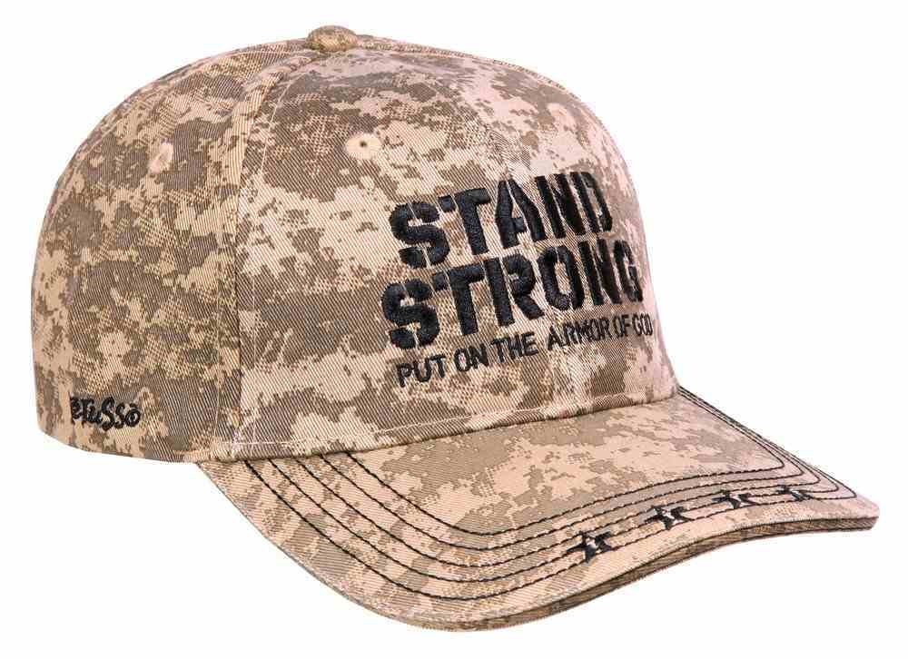 Men's Cap: Stand Strong, Put on the Armor of God, Army Pattern Soft Goods
