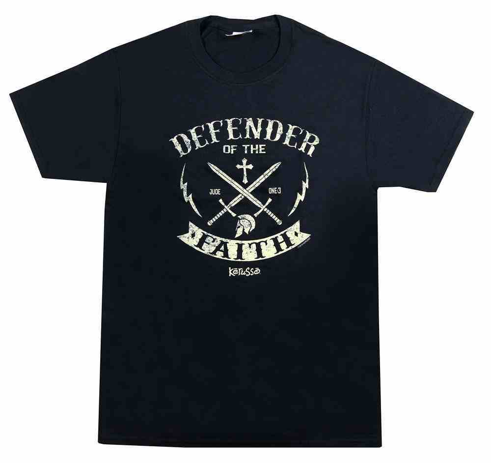 T-Shirt: Defender, Large Black/Gold (Jude 1:3) Soft Goods