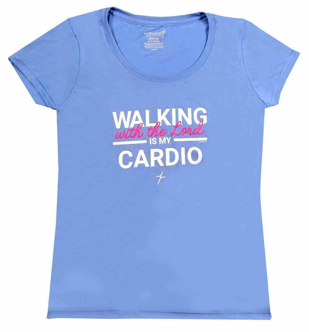 Women's Activewear T-Shirt: Cardio, Medium Light Blue Soft Goods
