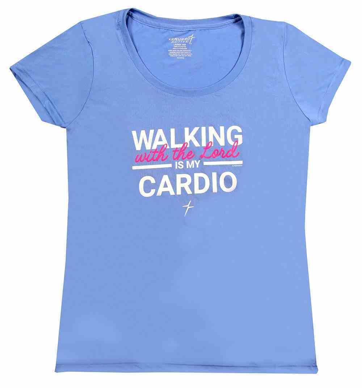 Women's Activewear T-Shirt: Cardio, Large Light Blue Soft Goods