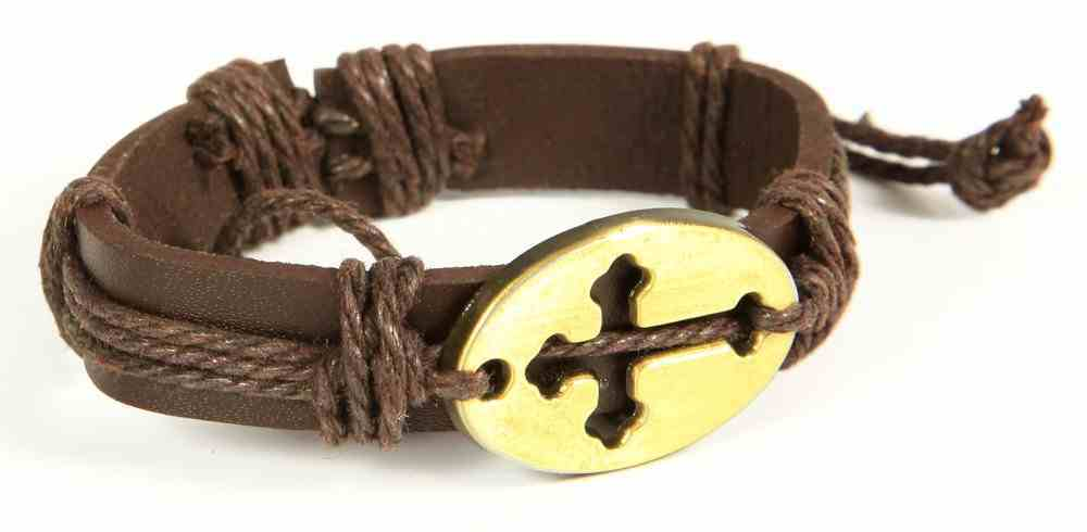 Men's Faith Gear Leather Bracelet: Sideways Cross 2 Jewellery