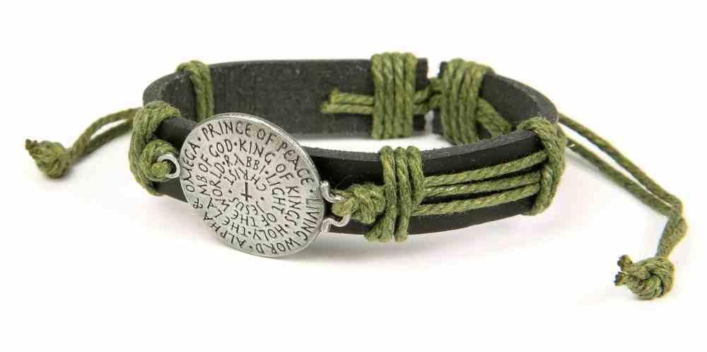 Men's Faith Gear Leather Bracelet: Names of Jesus Jewellery