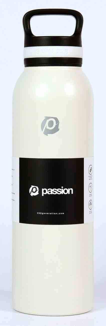 Water Bottle 730ml Stainless Steel: Passion, White (Isaiah 26:8) Homeware