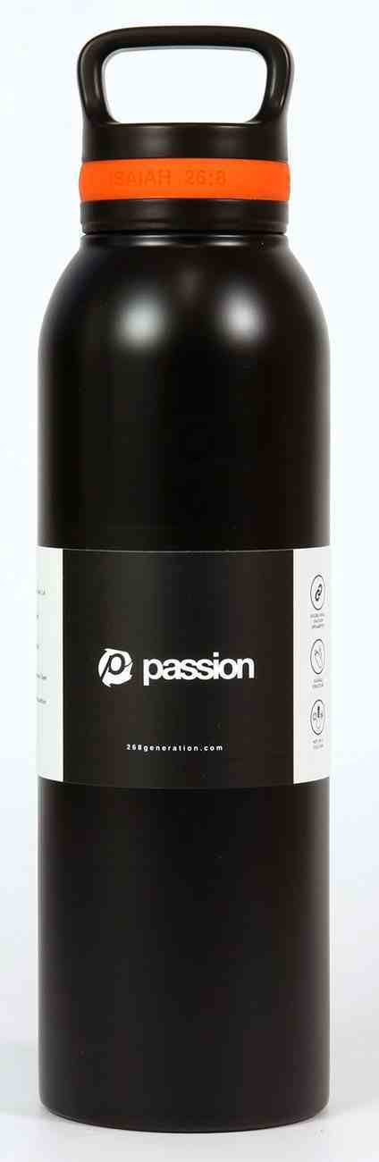 Water Bottle 730ml Stainless Steel: Passion, Black (Isaiah 26:8) Homeware