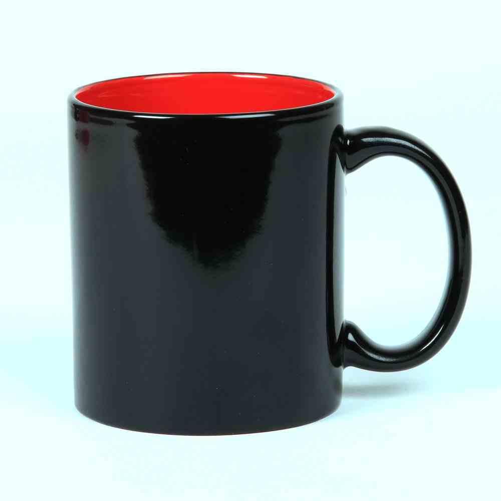 Ceramic Mug: Black With Red Inside, 325 ML Homeware