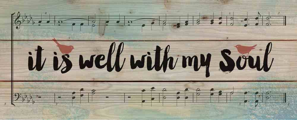 Panel Wall Art: It is Well With My Soul...Landscape Sheet Music Design Plaque