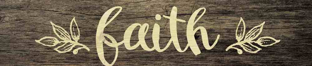 Tabletop Decor: Faith, Leaves Plaque