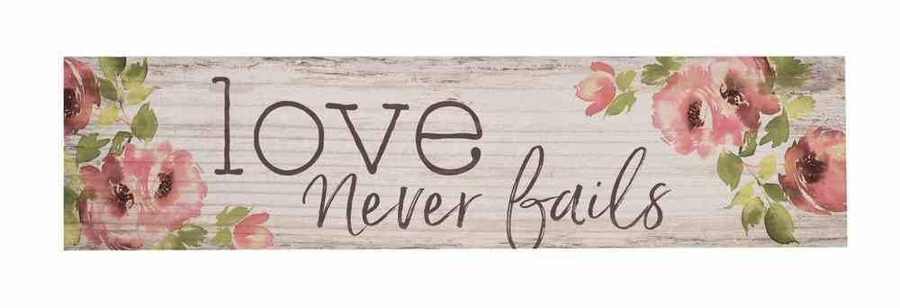 Magnet: Love Never Fails, Floral Novelty