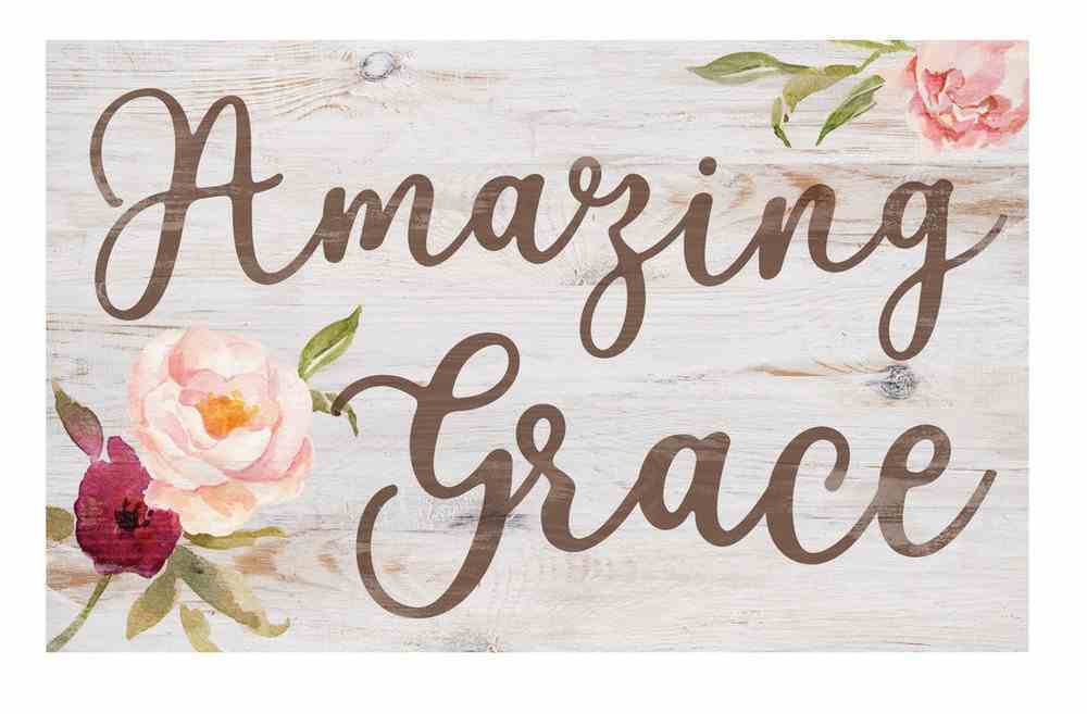 Panel Wall Art: Amazing Grace Plaque