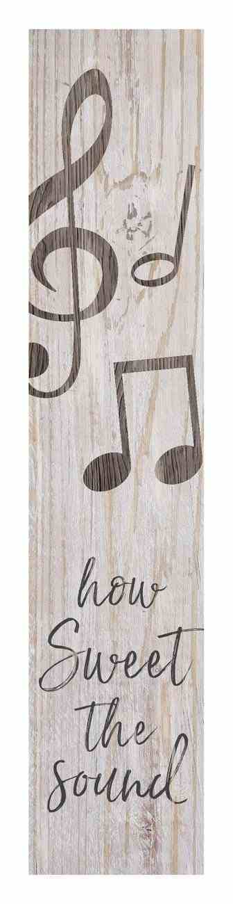 Tabletop Decor: How Sweet the Sound, Musical Notes Plaque