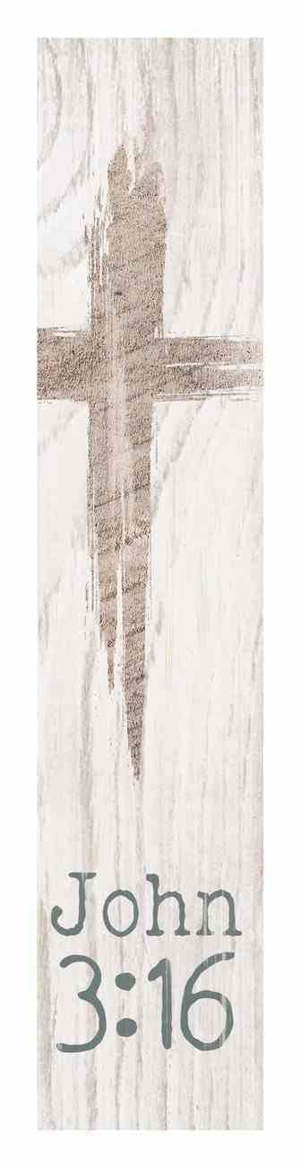 Tabletop Decor: John 3:16, Cross Plaque