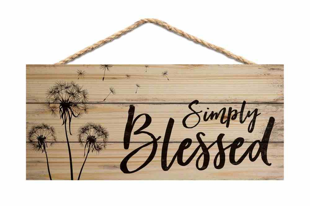 String Sign: Simply Blessed, Pine Plaque
