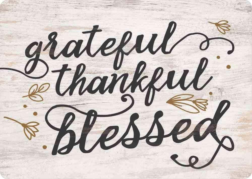 Magnet: Grateful Thankful Blessed Novelty