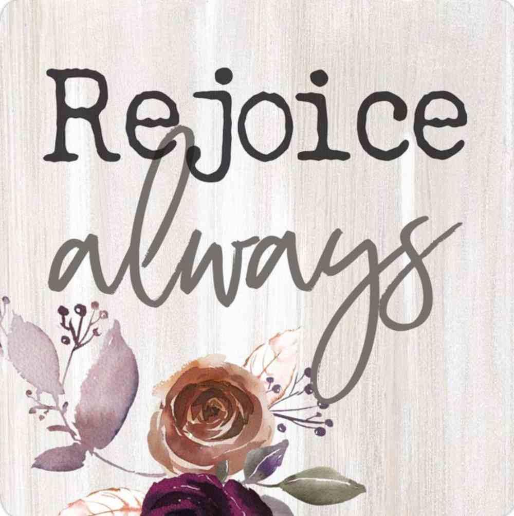 Magnet: Rejoice Always, Floral Novelty