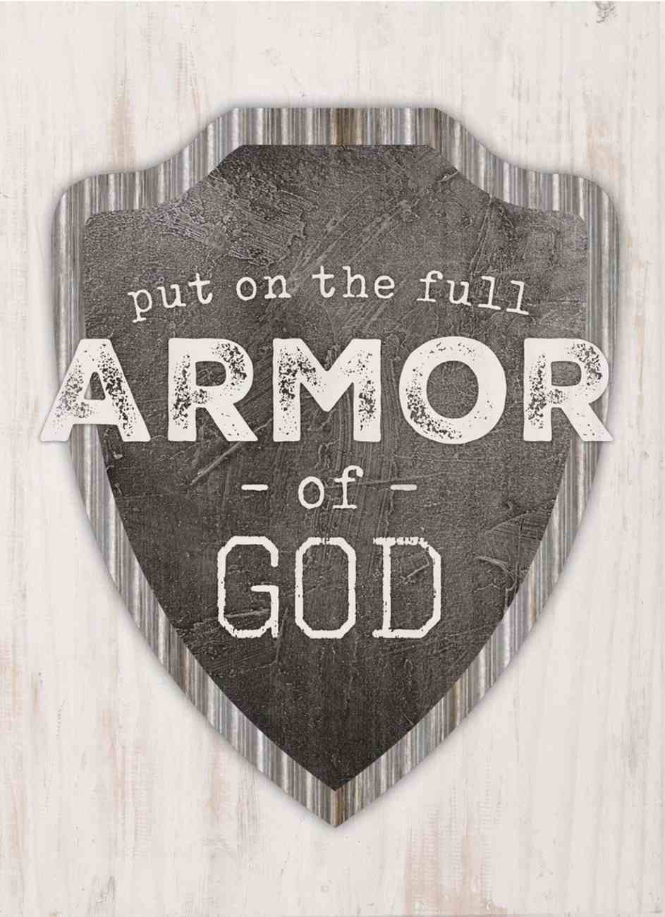 Tabletop Decor: Put on the Full Armor of God, Shield Plaque