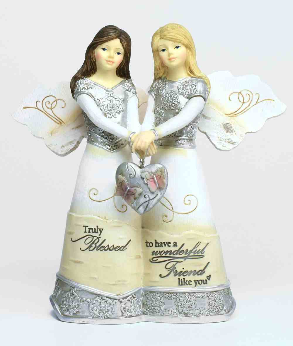 Elements Angel: Friendship, Double Angels Holding Heart Homeware