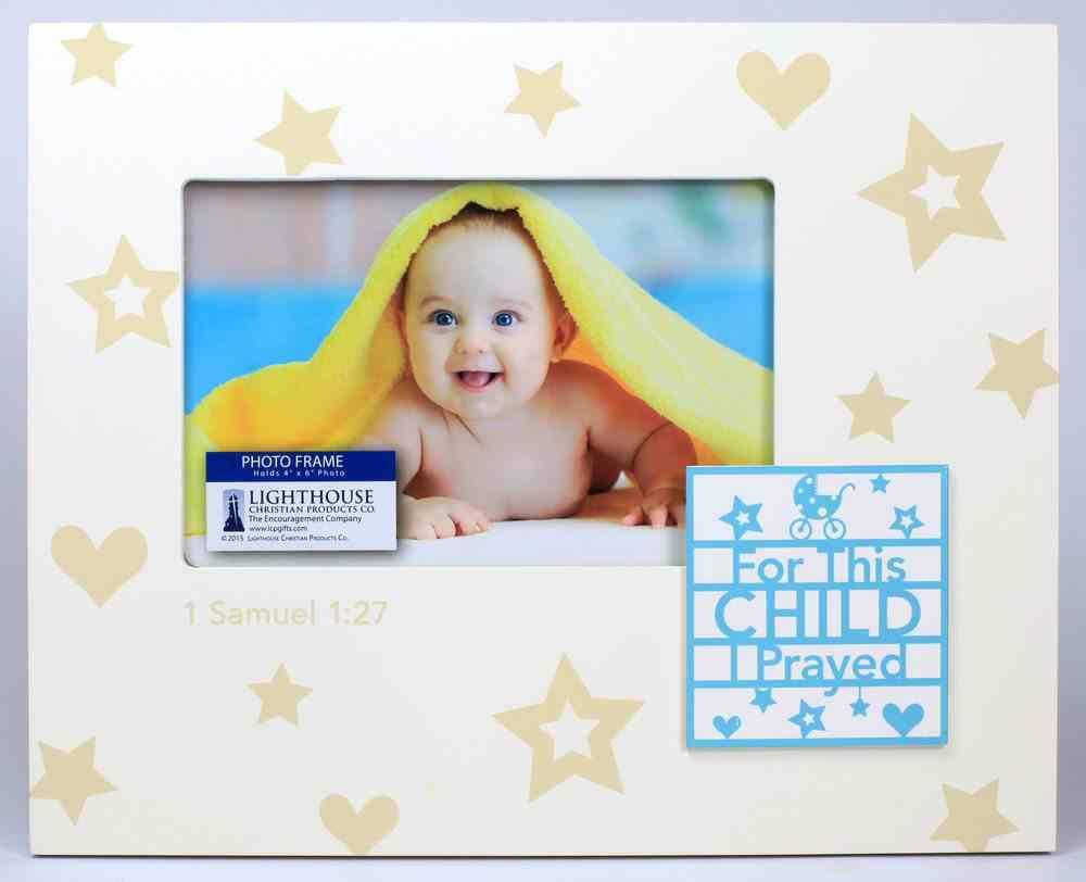 Photo Frame With Badge: For This Child I Prayed Aqua (1 Samuel 1:27) Homeware