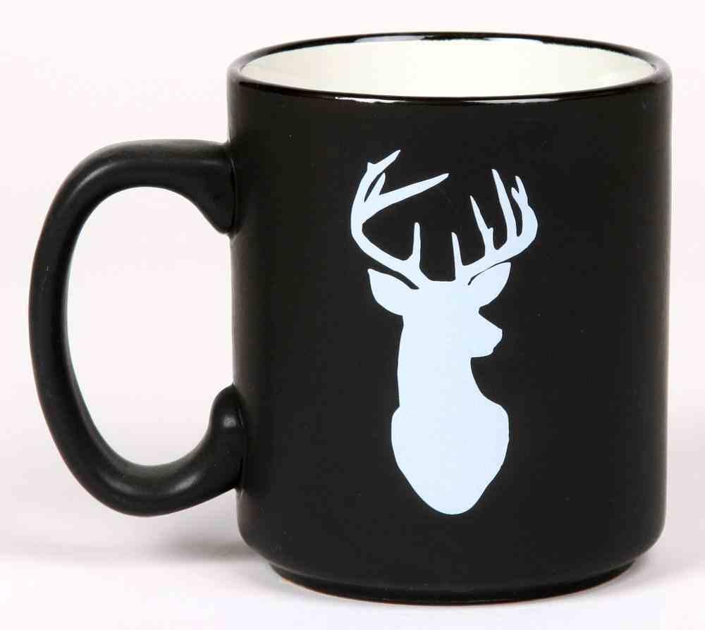 Ceramic Mug the Great Outdoors: Deer, Jeremiah 29:13, Black/White Homeware