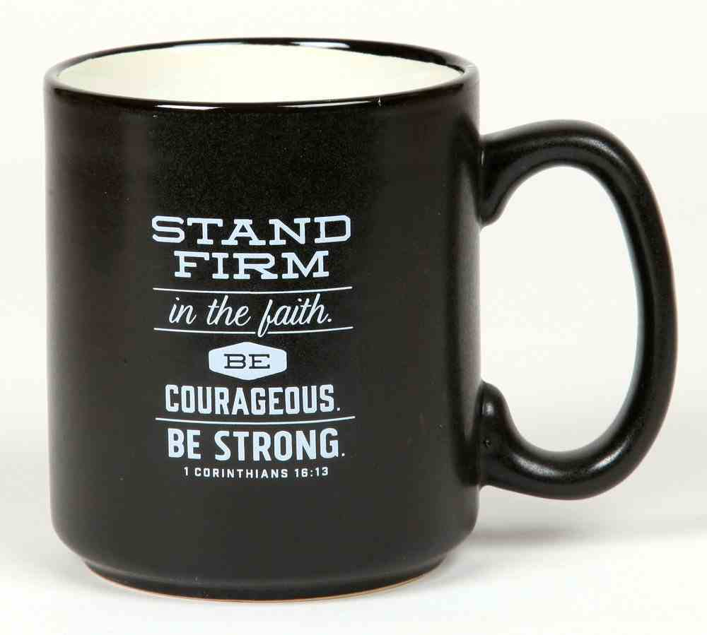 Ceramic Mug the Great Outdoors: Mountains, 1 Corinthians 16:13, Black/White Homeware