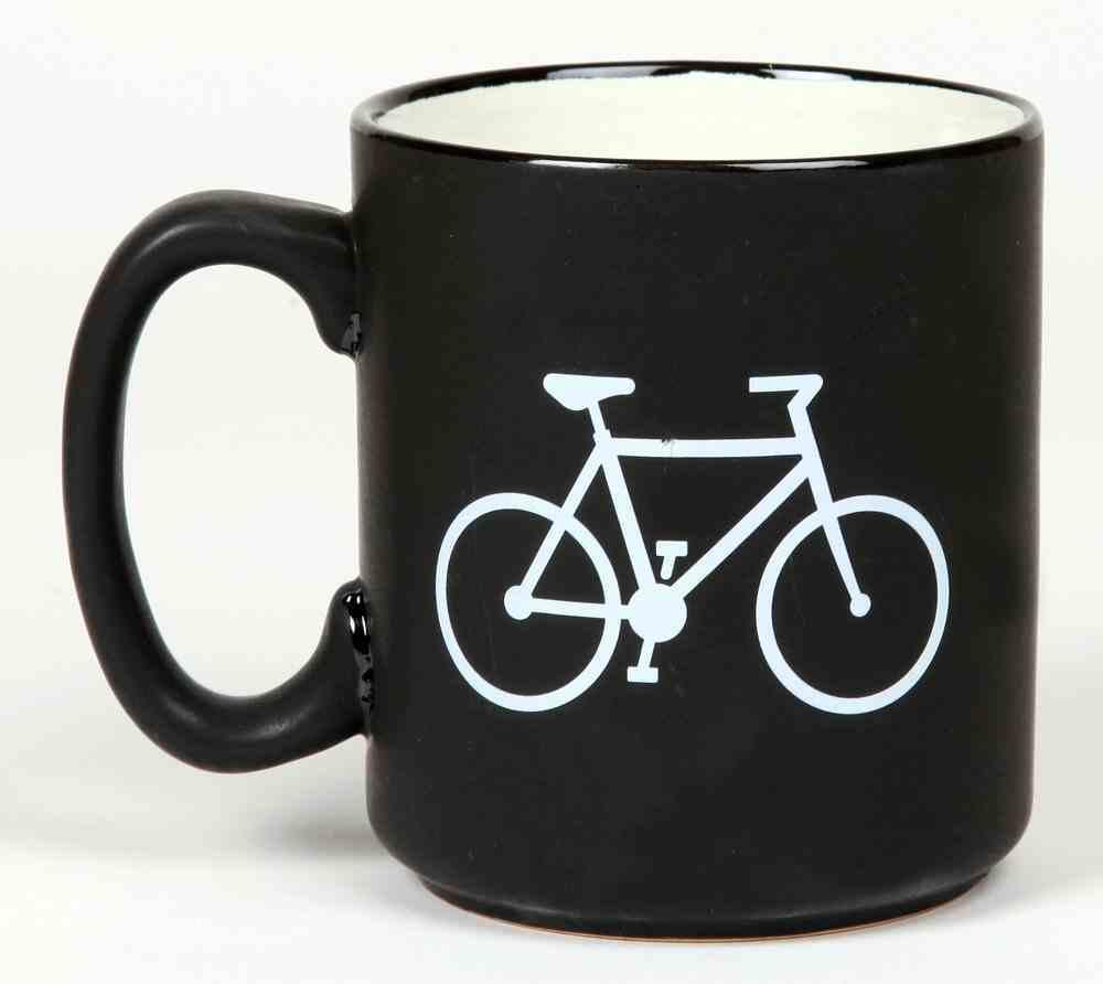 Ceramic Mug the Great Outdoors: Bicycle, Joshua 1:9, Black/White Homeware