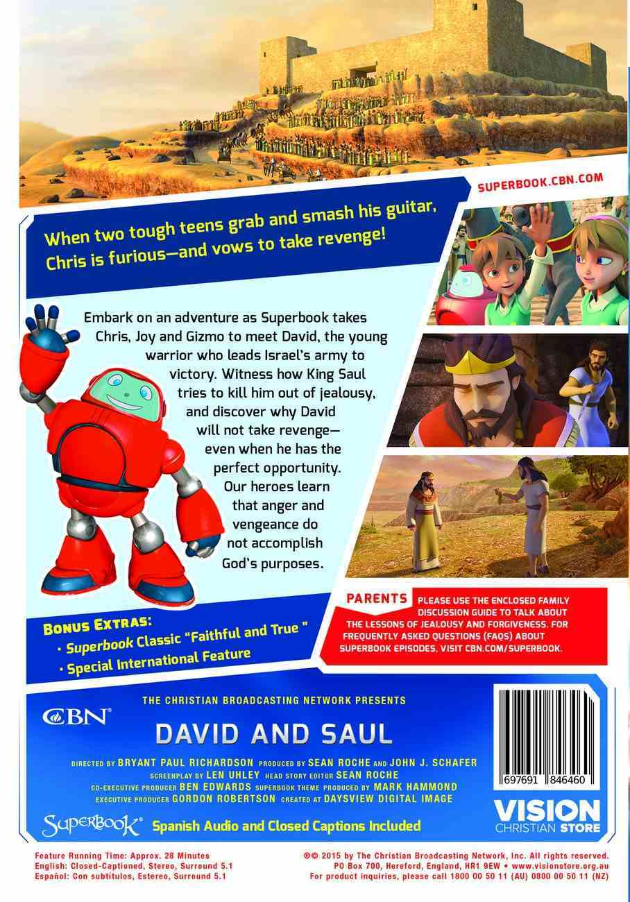 David and Saul (#07 in Superbook Dvd Series Season 3) DVD