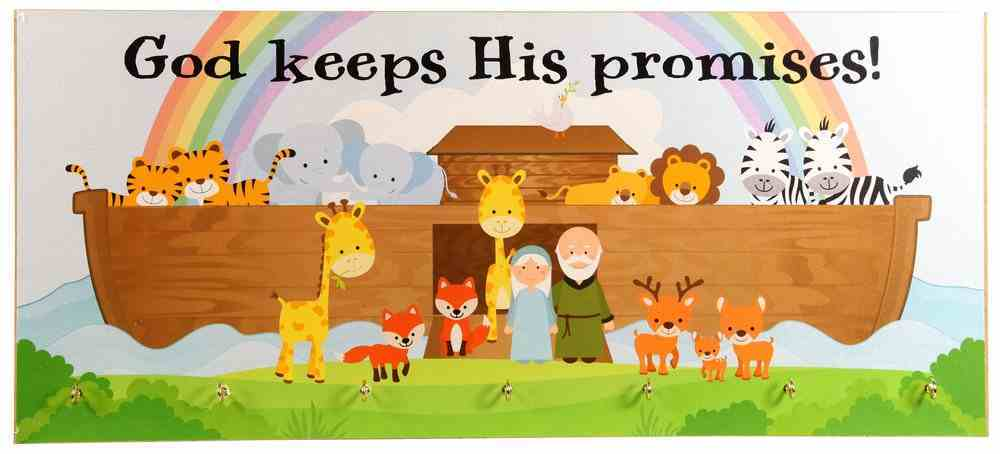 Young & Wild Wall Plaque: Noah's Ark - God Keeps His Promises Plaque