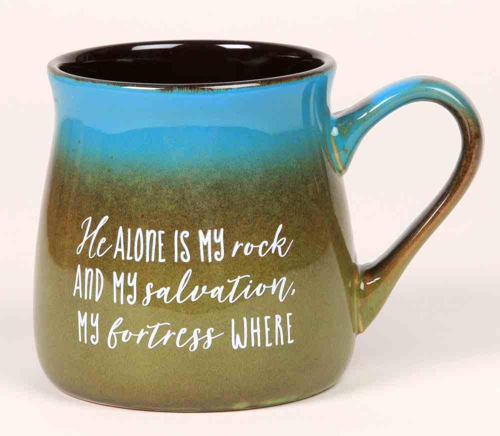 Ceramic Reactive Mug: He Alone is My Rock and My Salvation... Homeware