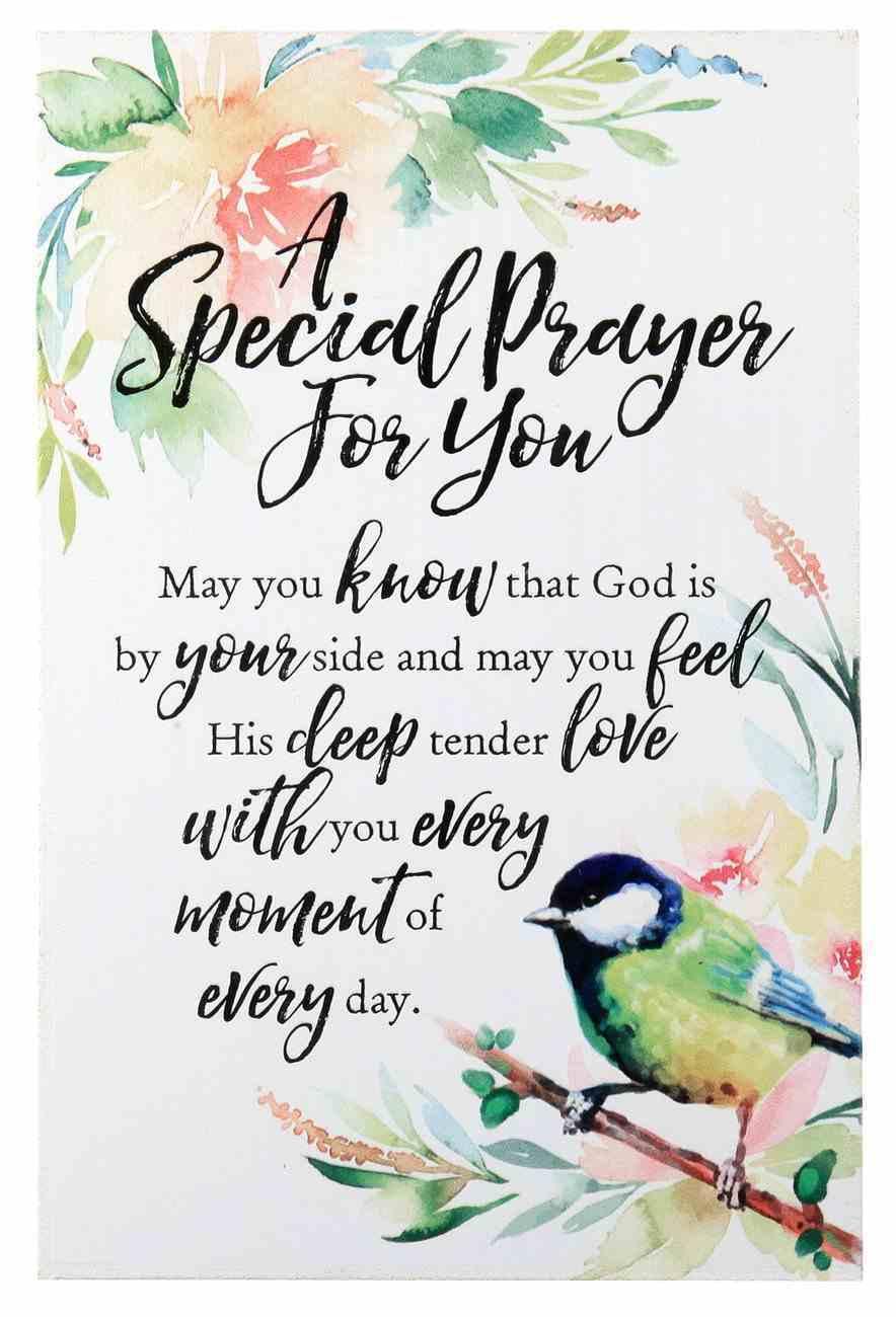 Woodland Grace Plaque: A Special Prayer For You, Bird/Floral Plaque