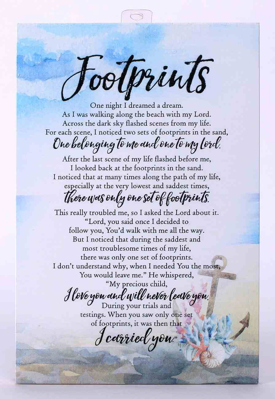 Woodland Grace Plaque: Footprints Plaque