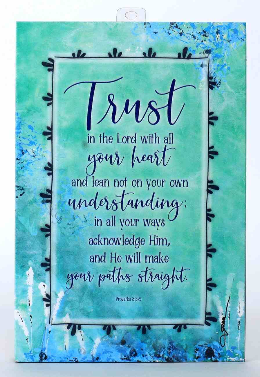 Whispers of the Heart Plaque: Trust in the Lord... Green Plaque